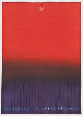 Sohan Qadri, Dan V, 2009, ink and dye on paper, 55 x 39 inches