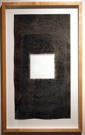 "Sohan Qadri, Tripti, 1996, Ink & dye on paper, 39 x 27"""