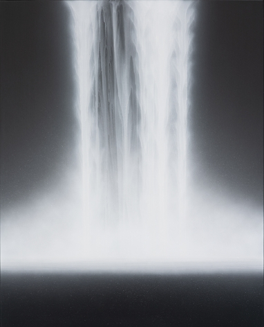 Waterfall, 2019, natural pigments on Japanese mulberry paper mounted on board, 63.8x 51.3inches/162 x 130 cm