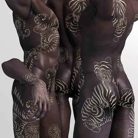 , Ebony-Tiger, 2014, digital print, 47 x 47 inches