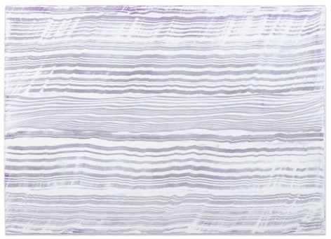Ricardo Mazal, White Over Violet 3, 2016, oil on linen, 50 x 70 inches/127 x 177.8 cm