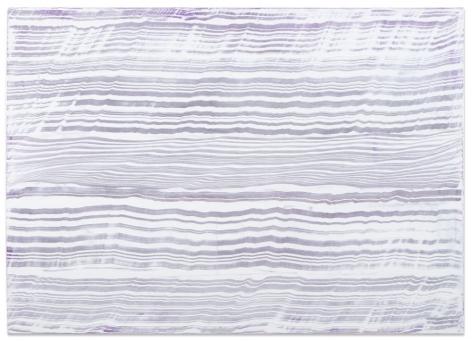 Ricardo Mazal, White Over Violet 3, 2016, oil on linen, 50 x 70 inches/127 x 177.8 cm