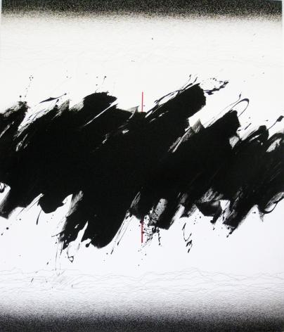 Golnaz Fathi, Untitled, 2014, acrylic, pen and varnish on canvas, 57.5 x 50.4 x 2 inches/146 x 128 x 5 cm