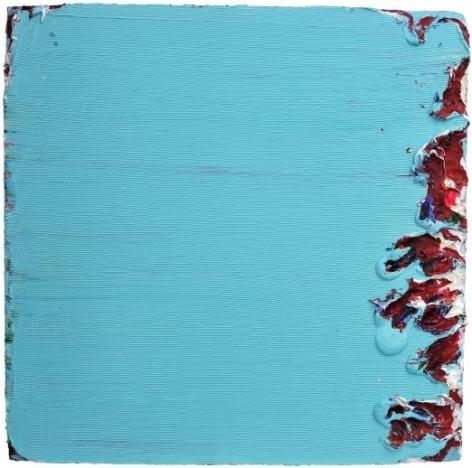 Subtract, 2013, acrylic paint, gel on mixed fiberglass base, 47.2x 47.2 x 2.4inches/120 x 120 x 6cm