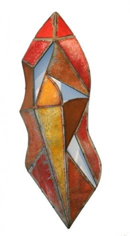 Nathan Slate Joseph  Kalahari Kalahari I , 2006, Pure pigment on galvanized steel, 72 x 24 x 2