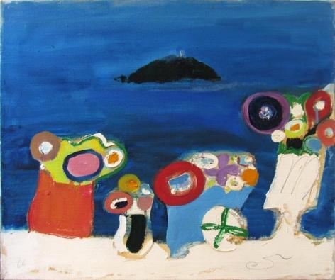 Isola del Tino, 1966, oil on canvas, 19.7 x 23.6 inches