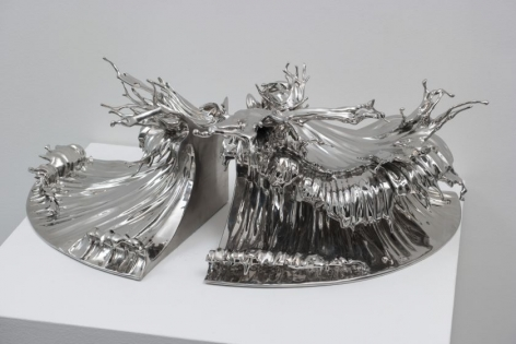 Shiosai I, 2015, stainless steel,9.8 x 19.7 x 12.6 inches/25 x 50 x 32 cm