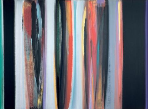 """Vittorio Matino,  Rosso a Volterra , 2006, Acrylic on linen, 94.5 x 128.75"""""""