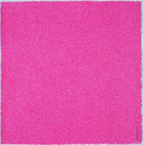 Zhang Yu, Fingerprints-2005.11-2, 2005, Xuan paper, plant pigment, 29.5 x 29.5 inches