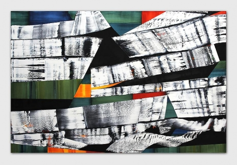 Kailash M12, 2012, oil on linen, 98.5 x 150 inches