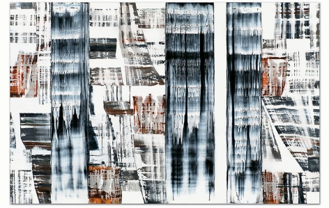 "ODENWALD 1152 N. 13, 2008, Oil on linen, 78 x 120"""