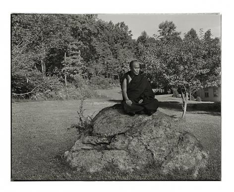 The Dalai Lama, Washington, New Jersey, 1990, archival pigment print, 30.5 x 37 inches/77.5 x 94 cm, Photograph © Annie Leibovitz