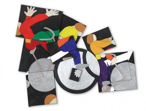 "Bicircle, 2008, Acrylic on canvas, 44 x 53 x 3.5"""