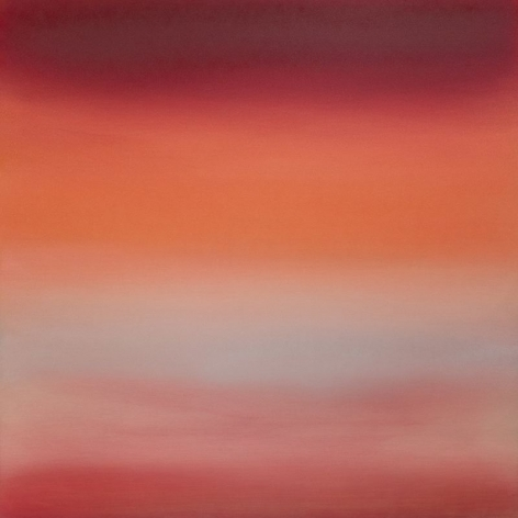 Vermillion Crimson 8.19.40.40.1.M.1.2.G.1.L, 2019, pigment and urethane on aluminum 40 x 40 inches/101.6 x 101.6 cm