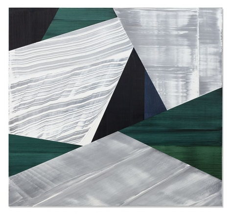 Ricardo Mazal, SP Black 3, 2019, oil on linen, 55 x 60 inches/139.7 x 152.4 cm