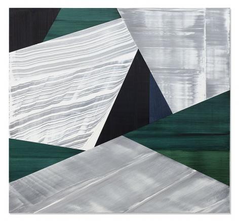 Ricardo Mazal, SP Black 3, 2019, oil on linen, 55 x 60 inches/139.7 x 152.4 cm