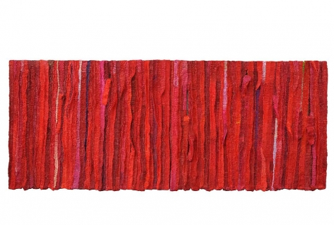 Tear, 2012, mixed media on canvas, 41.3 x 102.4 x 2.4 inches
