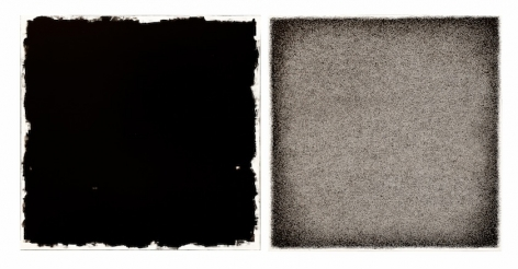 , Golnaz Fathi, Untitled, 2011, pen and varnish on canvas, 39.4 x 78.8 inches/100 x 200 cm