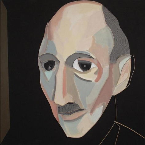 , Leee Waisler, Otto Frank, 2002, Acrylic and wood on canvas, 36 x 36 inches/91 x 91 cm