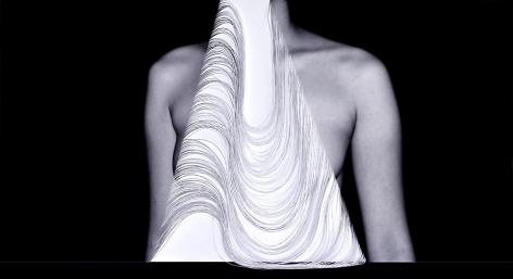 Kamolpan Chotvichai, Breast, 2013, digital c-print and hand cut paper, 121 x 63 cm, edition 1/5