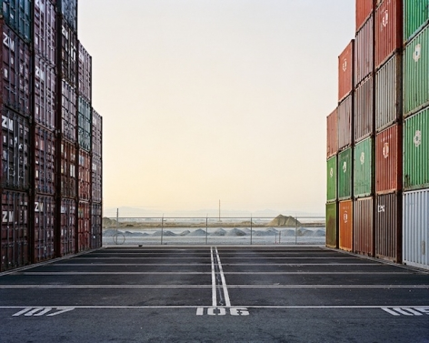 Container Ports #16, Delta Port, Vancouver, British Columbia, 2001, chromogenic color print, 27 x 34 inches/68.6 x 86.4 cm, edition of 9