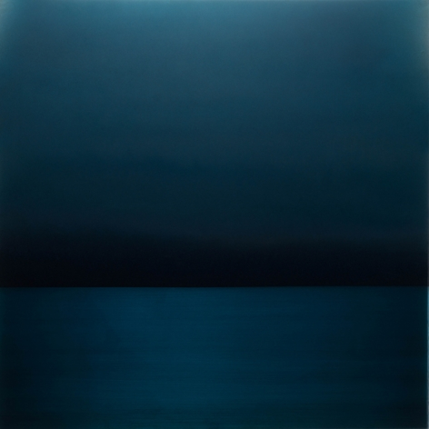 , Perception Kon (Navy), 2016, pigment, dye, urethane and resin on aluminum, 36 x 36 inches/91.5 x 91.5 cm