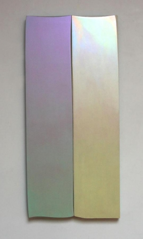 Robert Yasuda, Celebration, 2006, acrylic polymer on fabric on wood, 52 x 24 inches