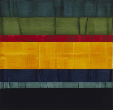 Compositions in Greens 10, 2014, oil on linen, 71x 73 inches/180.3 x 185.4cm