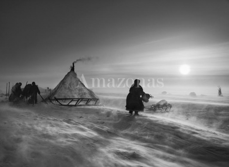 , Sebastião Salgado. Nenets people. Yamal Peninsula. Siberia. Russia. 2011. Gelatin silver print. 91.44 x 127 cm. © Sebastião Salgado/Amazonas Images