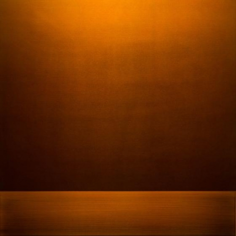 , Perception Copper Gold, 2016, urethane on aluminum, 36 x 36 inches/91.5 x 91.5 cm