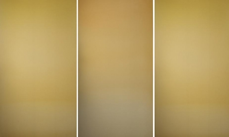Miya Ando, Sui Getsu Ka Gold, 2013, hand-dyed anodized aluminum, 48 x 72 inches