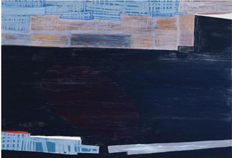 nepa, 2011, acrylic on panel, 25 x36 inches