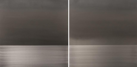 , Ephemeral Lavender diptych, 2014, urethane and pigment on aluminum, 36 x 72 inches/91.5 x 183 cm
