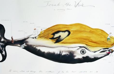 Shubigi Rao, Fictioneering for Jonah, 2015, ink on Tiepolo paper, 70 x 100 cm