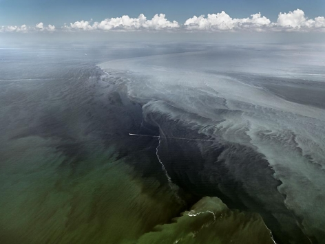 Oil Spill #13, Mississippi Delta, Gulf of Mexico, June 24, 2010, chromogenic color print, 48 x 64 inches
