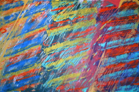 Viento de Cara Bermejo, 2007, Mixed media on Arches paper, 26 x 40""