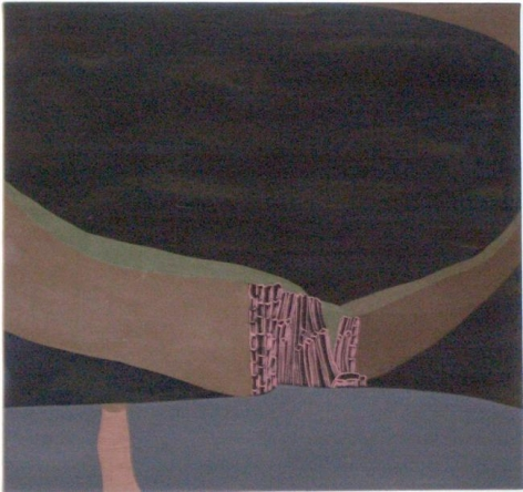 Frances Barth, I'm in a dangerous mood, 2004, acrylic on canvas, 52 x 96 inches