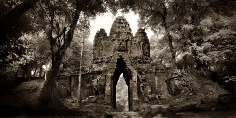 """West Gate, Angkor Thom"" Archival Pigment Print, 40 x 80"""