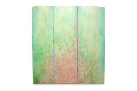 , Robert Yasuda, Botanikos, 2013, acrylic on fabric on wood, 80 x 74 inches / 203.2 x 180 cm