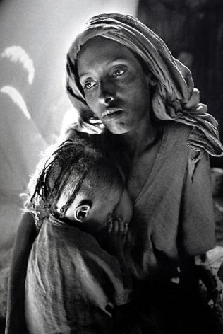 Sebastião Salgado, Children's Ward in the Korem Refugee Camp [mother and child], 1984, gelatin silver print, 20 x 24 inches