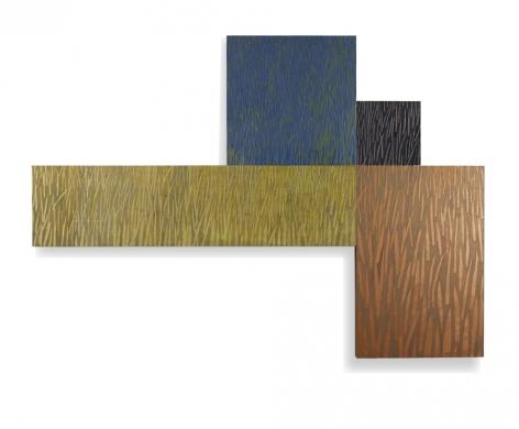 Field, 1992, acrylic on panels, 40 x 56 x 2 inches/101.6 x 142.2 x 5.1 cm