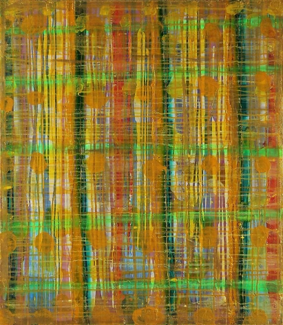 Angkrit Ajchariyasophon, 2011074, 2011, oil, acrylic, spray paint on wood panel, 39.7 x 34.6 inches