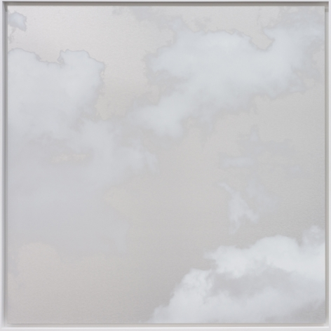 October Cloud 4.4.11, 2018, ink and dye on aluminum composite, 48 x 48 inches/122 x 122 cm