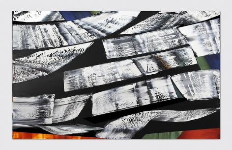 Kailash M14, 2012, oil on linen, 68 x 110 inches