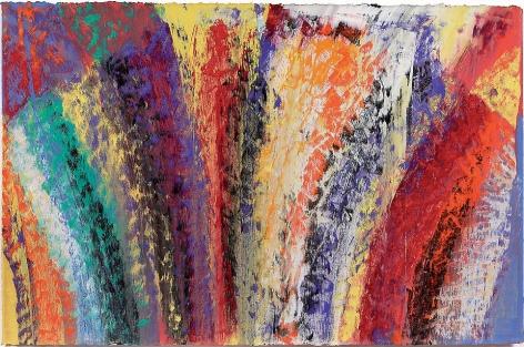 "White Lalita, 2007, Mixed media on Arches paper, 22.25 x 30"""