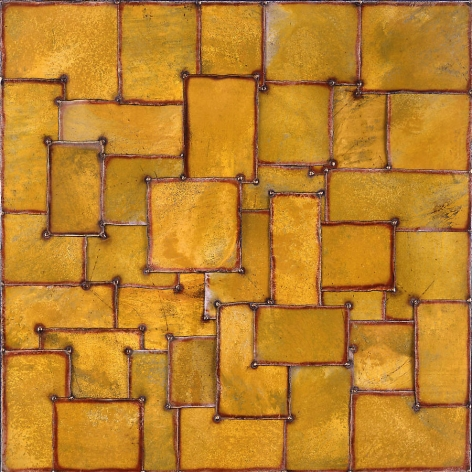 "Nathan Slate Joseph,  Silks I , 2005, Pure color pigment on galvanized steel, 48 x 48"""