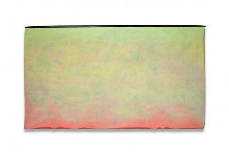 , Robert Yasuda, Origins, 2013, acrylic on fabric on wood, 36 x 64 inches / 91 x 162.6 cm