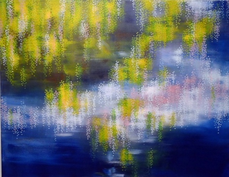 Pond, 2014, acrylic on canvas, 53 x 69 inches/134.6x 175.3cm