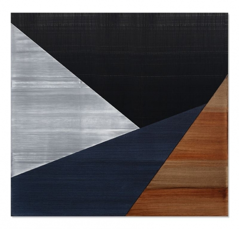 Ricardo Mazal, SP Black 11, 2019, oil on linen, 30 x 32 inches/76.2 x 81.3 cm