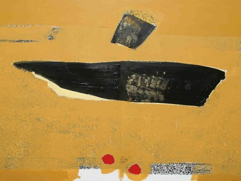 """Ali Hassan, Untitled, 2008, Mixed media on canvas, 38.2 x 47.2"""""""
